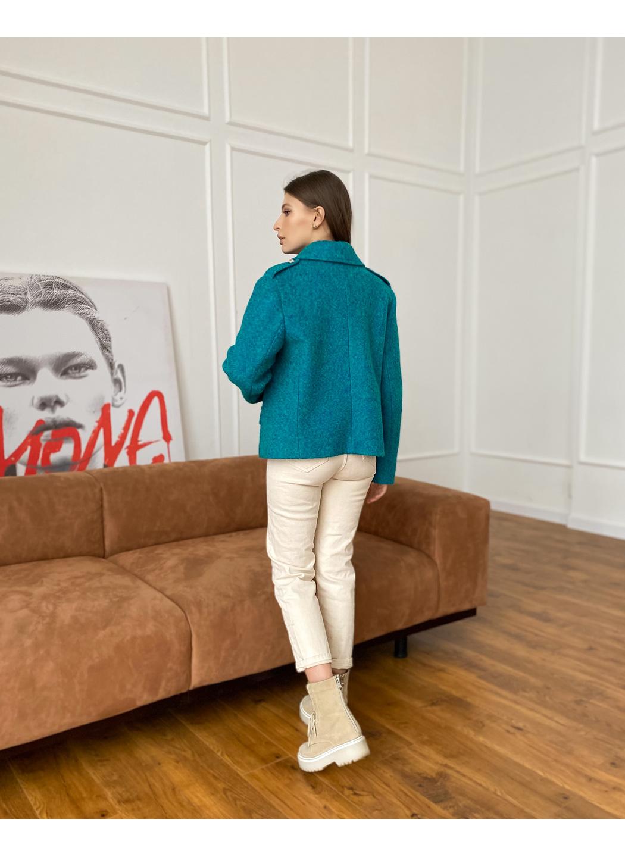 Женский демисезонный Пиджак Майорка Букле Бирюза  купить в Украине: фото, цена, характеристики, отзывы - фото 2