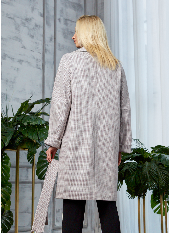 Женское Демисезонное Пальто Амелия Кашемир Клетка Светло-серый купить в Украине: фото, цена, характеристики, отзывы - фото 2