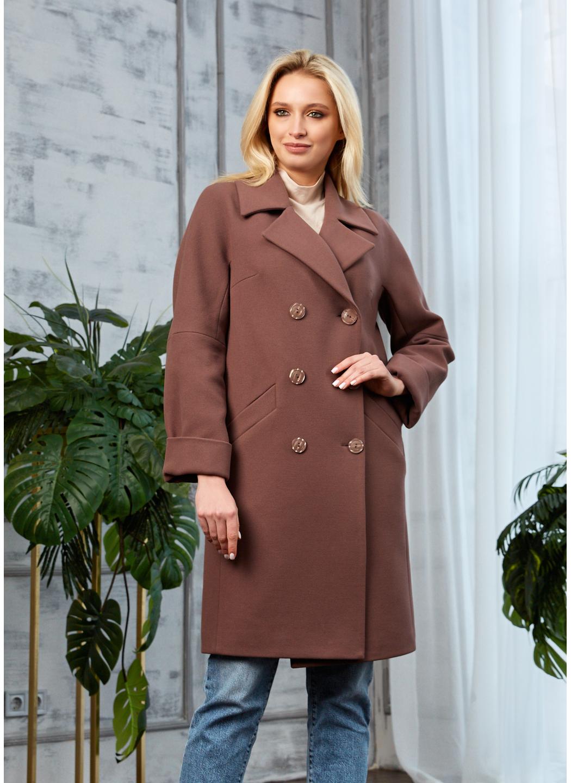 Женское Демисезонное Пальто Амелия Кашемир Шоколад купить в Украине: фото, цена, характеристики, отзывы - фото 2