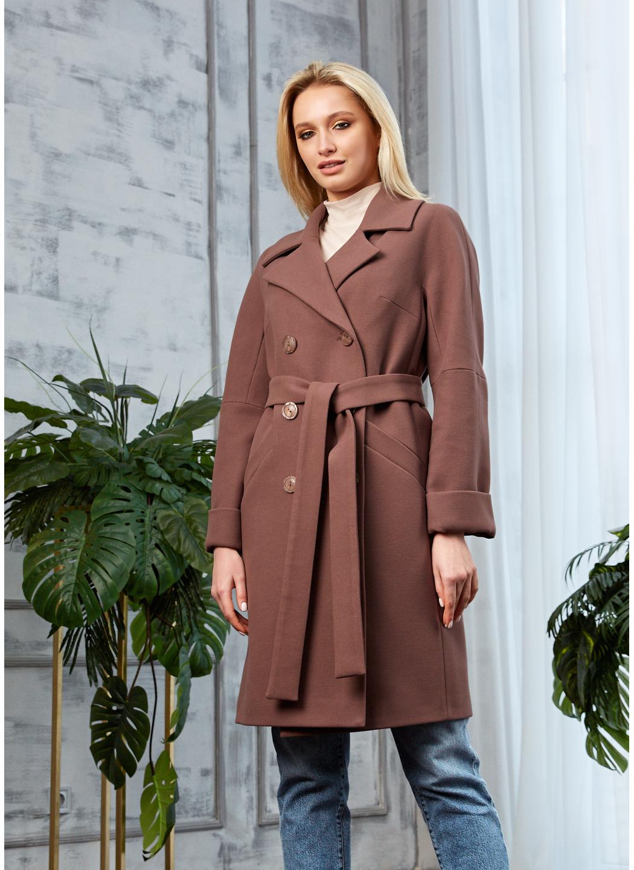 Женское Демисезонное Пальто Амелия Кашемир Шоколад купить в Украине: фото, цена, характеристики, отзывы - фото 1