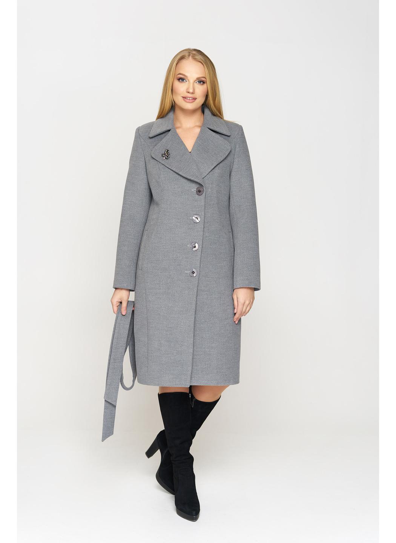 Женское демисезонное Пальто Адель Кашемир  Серый купить в Украине: фото, цена, характеристики, отзывы - фото 1