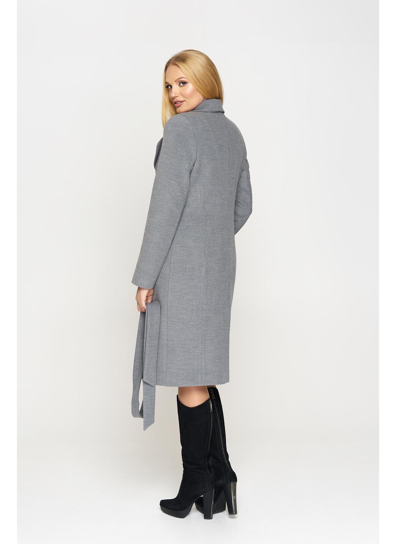 Женское демисезонное Пальто Адель Кашемир  Серый купить в Украине: фото, цена, характеристики, отзывы - фото 2