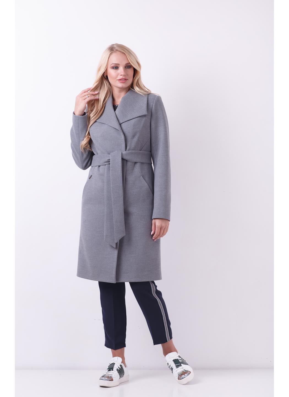 Женское Демисезонное Пальто Валерия Шерсть Меланж серый купить в Украине: фото, цена, характеристики, отзывы - фото 1