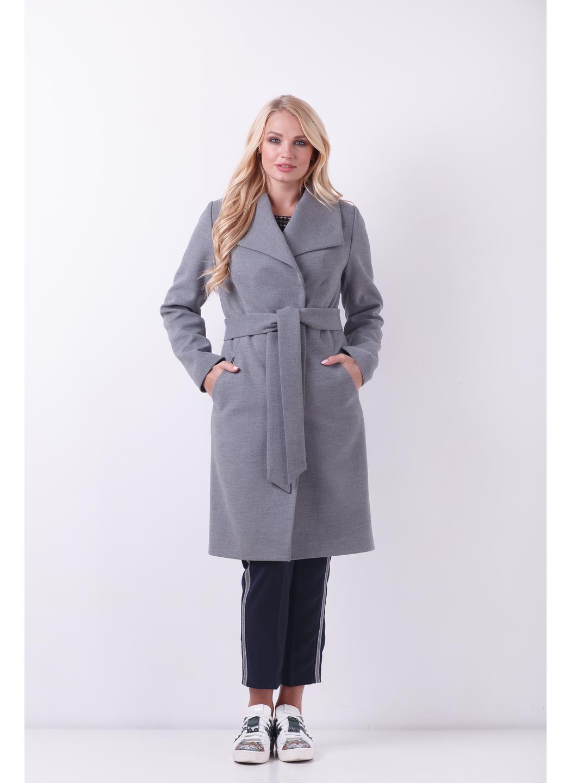 Женское Демисезонное Пальто Валерия Шерсть Меланж серый купить в Украине: фото, цена, характеристики, отзывы - фото 3