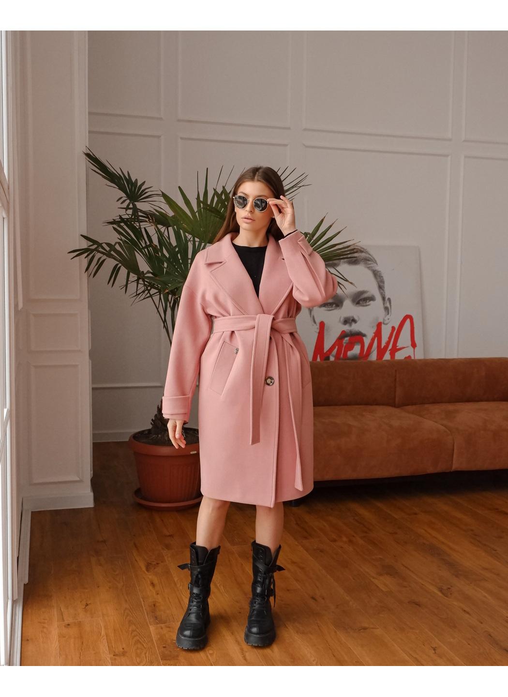 Женское Демисезонное Пальто Корсика Кашемир Пудра купить в Украине: фото, цена, характеристики, отзывы - фото 2