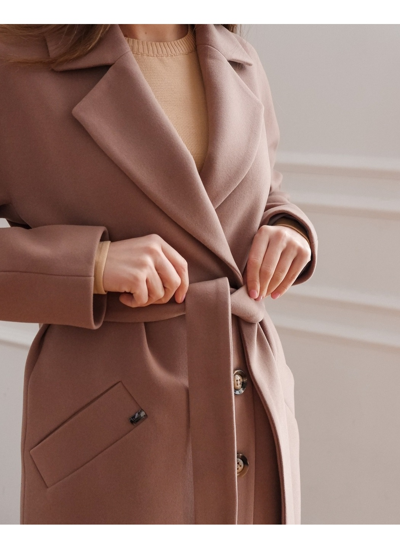 Женское Демисезонное Пальто Лаванда Кашемир Капучино купить в Украине: фото, цена, характеристики, отзывы - фото 3
