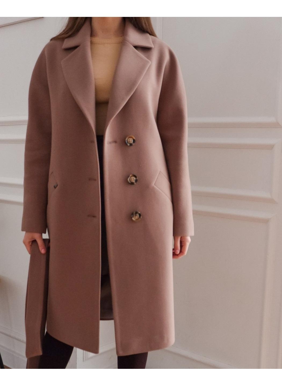 Женское Демисезонное Пальто Лаванда Кашемир Капучино купить в Украине: фото, цена, характеристики, отзывы - фото 2