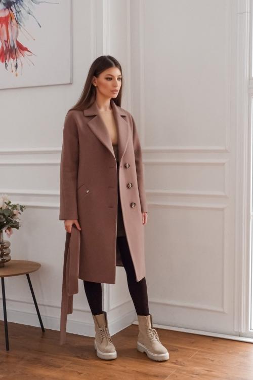 Женское Демисезонное Пальто Лаванда Кашемир Капучино