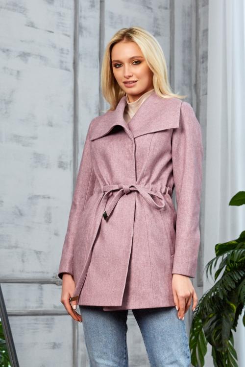 Женское Демисезонное Пальто Мадрид Кашемир Розовый