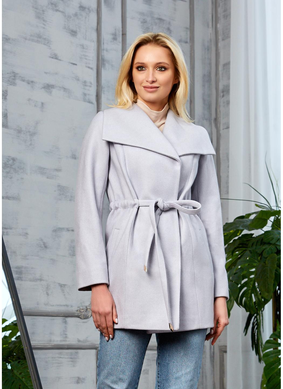 Женское Демисезонное Пальто Мадрид Кашемир Светло-серый купить в Украине: фото, цена, характеристики, отзывы - фото 1