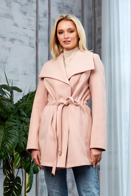 Женское Демисезонное Пальто Мадрид Кашемир Персик