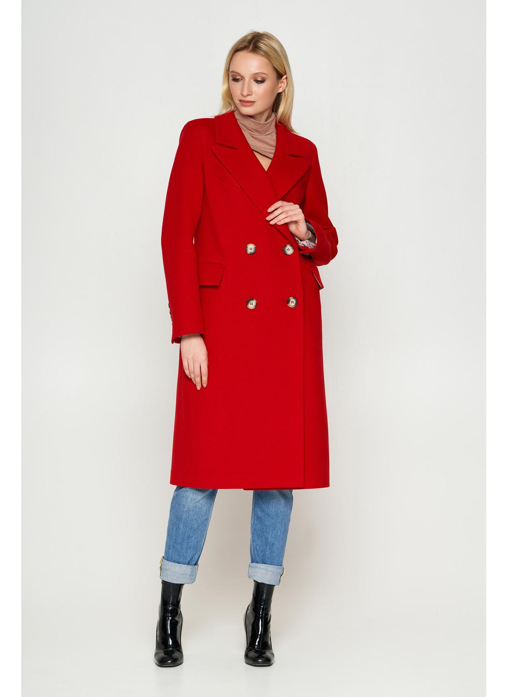 Женское Демисезонное Пальто Монако Кашемир Красный купить в Украине: фото, цена, характеристики, отзывы - фото 1