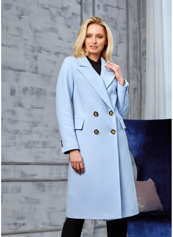 Женское Демисезонное Пальто Монако Кашемир Голубой купить в Украине: фото, цена, характеристики, отзывы - фото 1