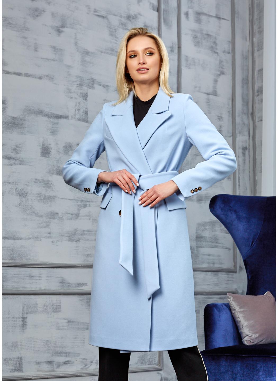 Женское Демисезонное Пальто Монако Кашемир Голубой купить в Украине: фото, цена, характеристики, отзывы - фото 2