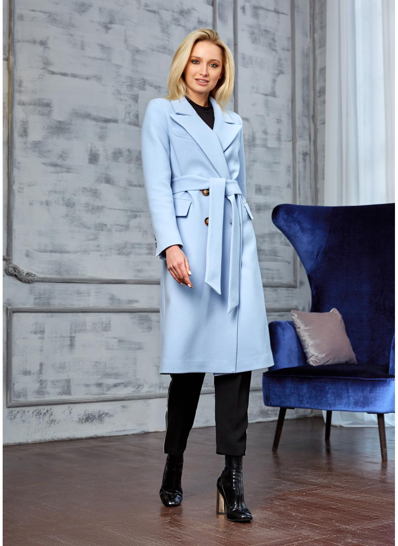 Женское Демисезонное Пальто Монако Кашемир Голубой купить в Украине: фото, цена, характеристики, отзывы - фото 3