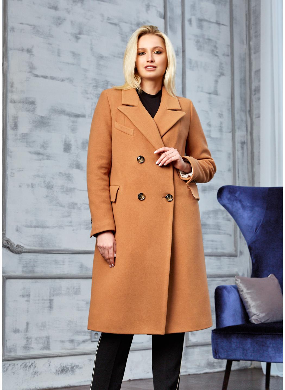Женское Демисезонное Пальто Монако Кашемир Светло-коричневый купить в Украине: фото, цена, характеристики, отзывы - фото 1