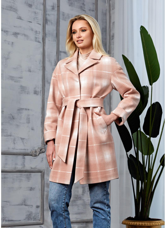Женское Демисезонное Пальто Окси Кашемир Клетка Розовый купить в Украине: фото, цена, характеристики, отзывы - фото 2