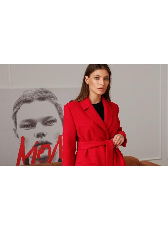 Женское Демисезонное Пальто Софи Кашемир Красный купить в Украине: фото, цена, характеристики, отзывы