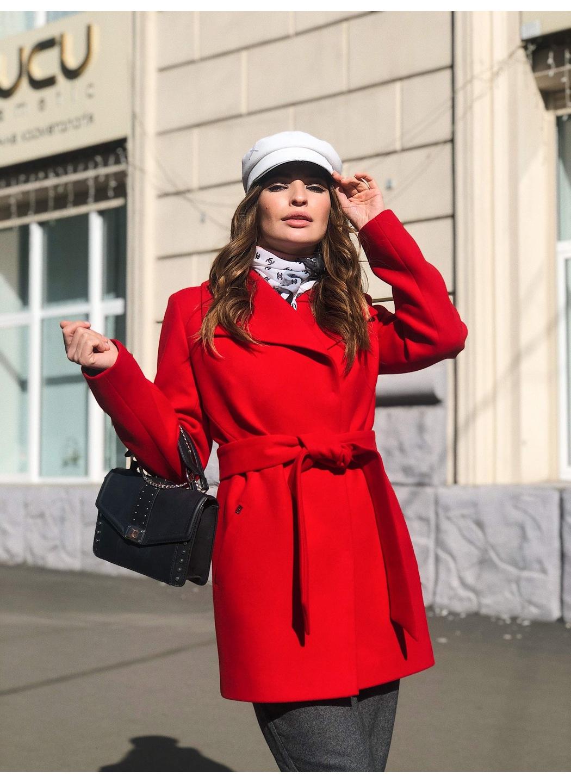 Пальто Лера, деми, кашемир, красный купить в Украине: фото, цена, характеристики, отзывы - фото 1