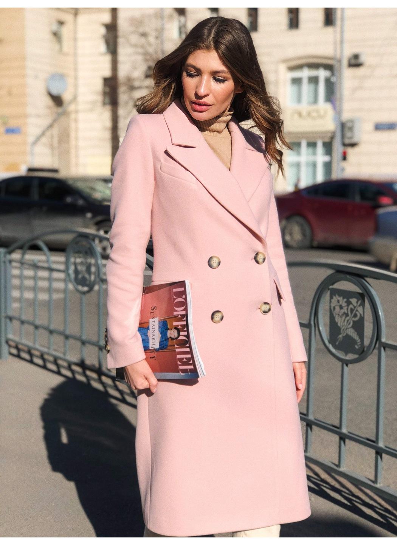 Женское Демисезонное Пальто Монако Кашемир Персик длинное купить в Украине: фото, цена, характеристики, отзывы - фото 1