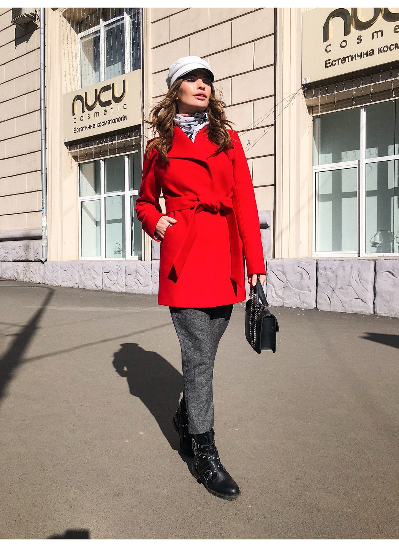 Пальто Лера, деми, кашемир, красный купить в Украине: фото, цена, характеристики, отзывы - фото 2