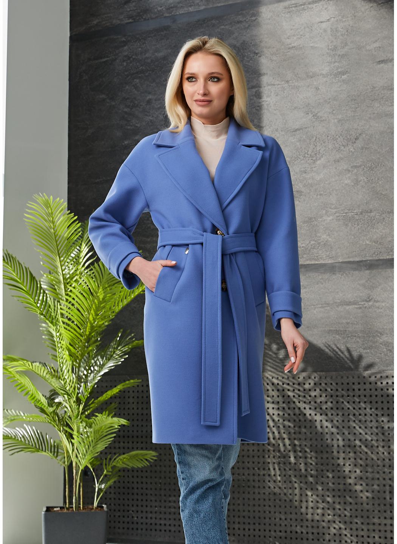 Женское Демисезонное Пальто Корсика Кашемир Синий купить в Украине: фото, цена, характеристики, отзывы - фото 1