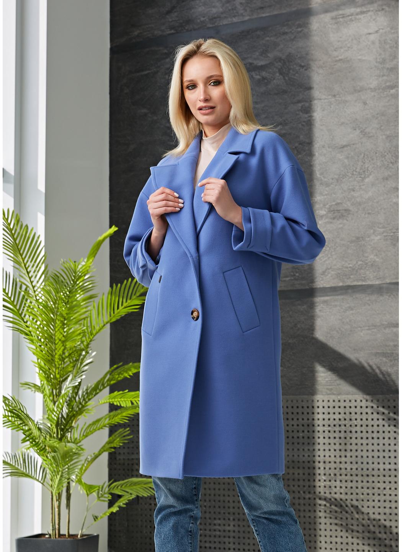 Женское Демисезонное Пальто Корсика Кашемир Синий купить в Украине: фото, цена, характеристики, отзывы - фото 2