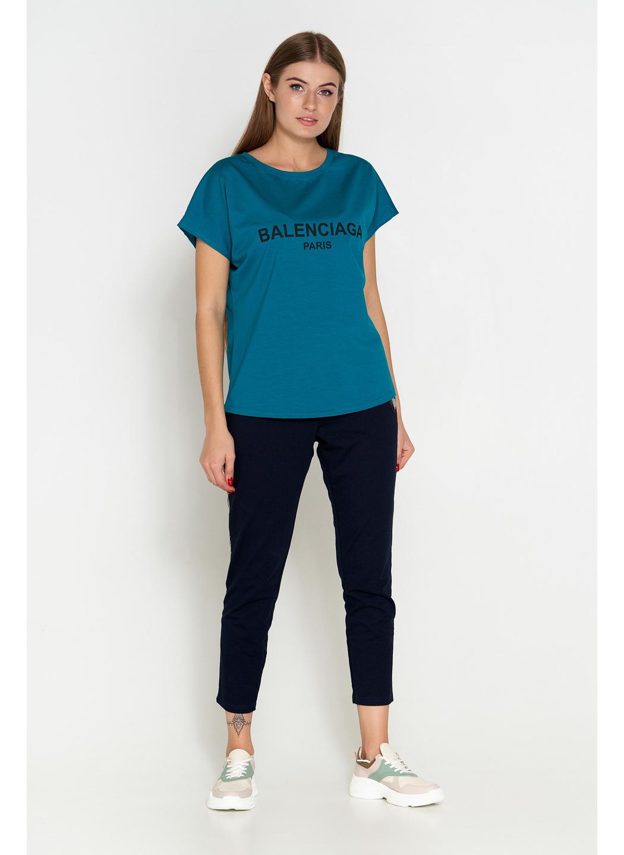 футболка батал синий 304 купить в Украине: фото, цена, характеристики, отзывы