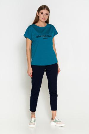 футболка батал синий 304