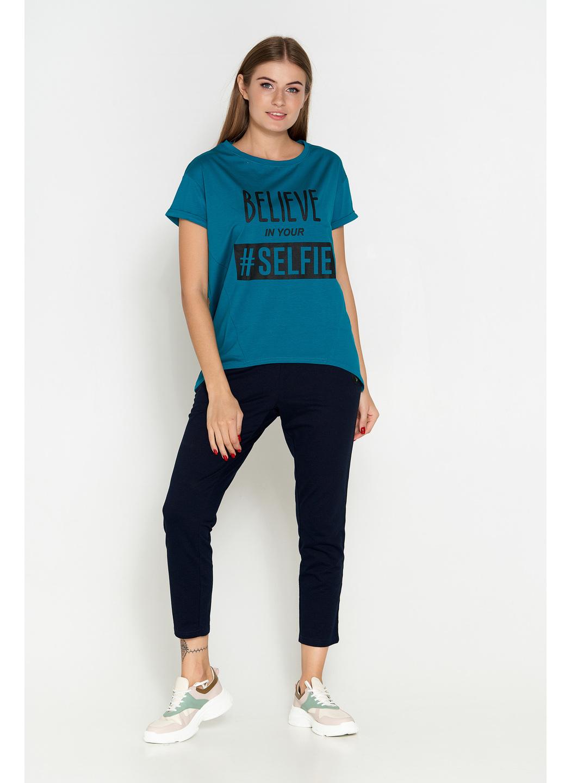 футболка батал синий 305 купить в Украине: фото, цена, характеристики, отзывы