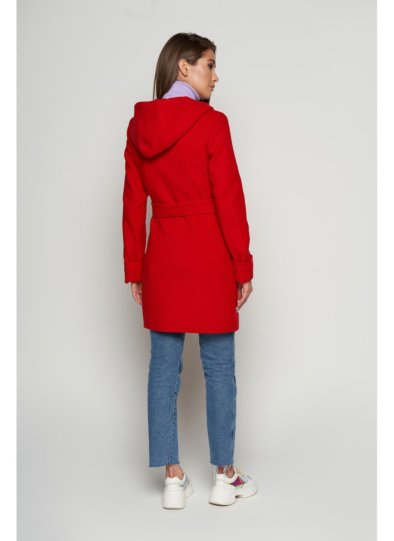 Женское Демисезонное Пальто Бриджит с капюшоном Шерсть Красный купить в Украине: фото, цена, характеристики, отзывы - фото 2