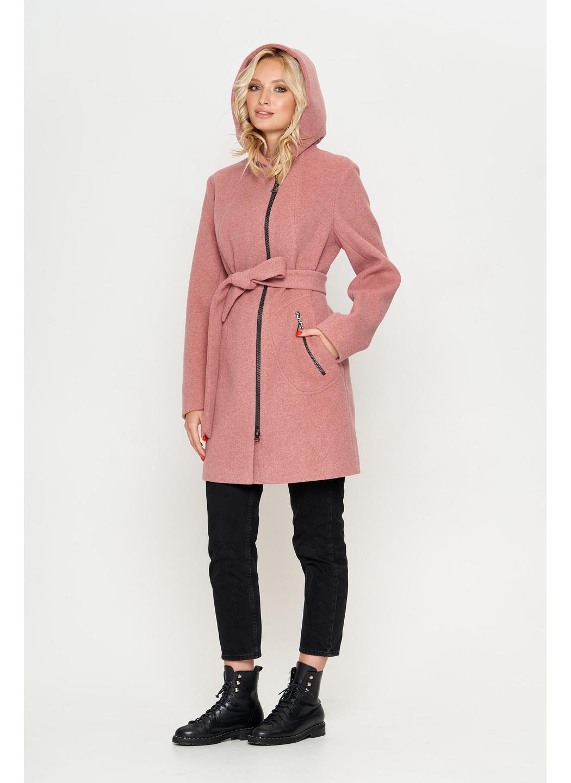 Женское Демисезонное Пальто Бриджит с капюшоном Шерсть Розовый купить в Украине: фото, цена, характеристики, отзывы - фото 3