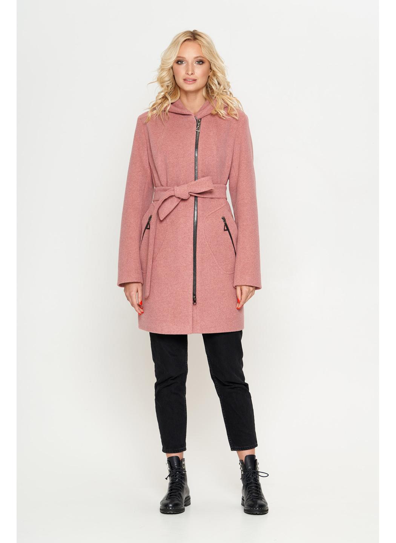 Женское Демисезонное Пальто Бриджит с капюшоном Шерсть Розовый купить в Украине: фото, цена, характеристики, отзывы - фото 1