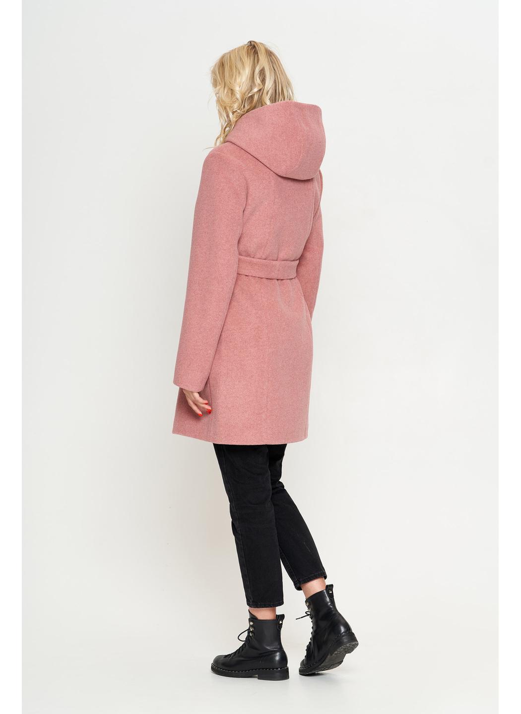 Женское Демисезонное Пальто Бриджит с капюшоном Шерсть Розовый купить в Украине: фото, цена, характеристики, отзывы - фото 2