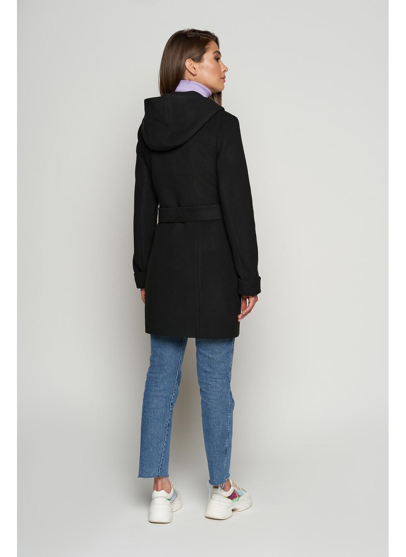 Женское Демисезонное Пальто Бриджит  с капюшоном Шерсть Черный купить в Украине: фото, цена, характеристики, отзывы - фото 2