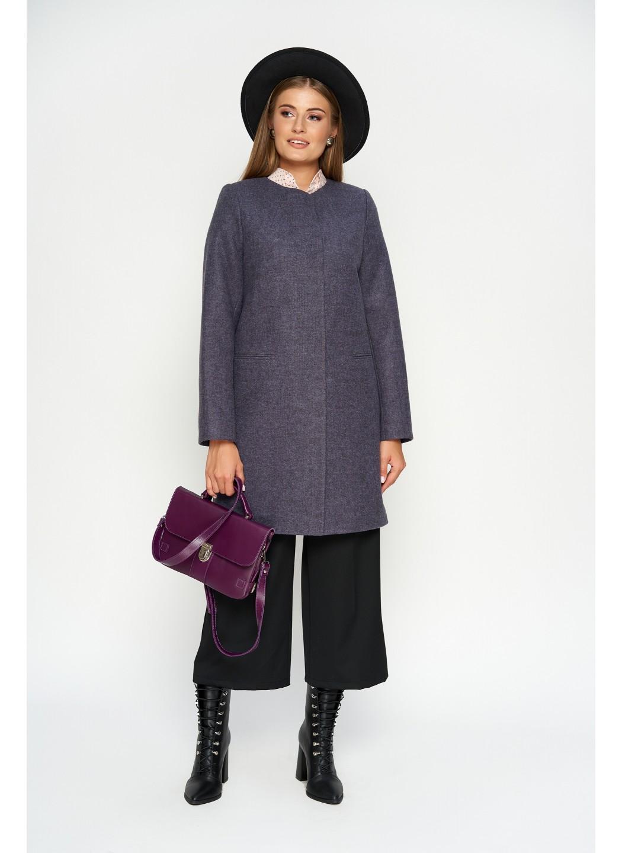 Пальто Диана, деми, шерсть, фиолетовый купить в Украине: фото, цена, характеристики, отзывы - фото 1