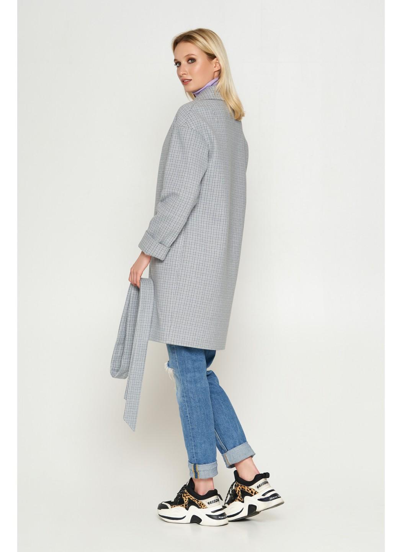 Женское Демисезонное Пальто Окси Кашемир Клетка Серый 8803 купить в Украине: фото, цена, характеристики, отзывы - фото 2