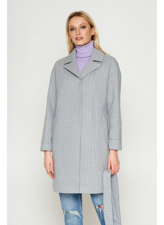 Женское Демисезонное Пальто Окси Кашемир Клетка Серый 8803 купить в Украине: фото, цена, характеристики, отзывы - фото 1