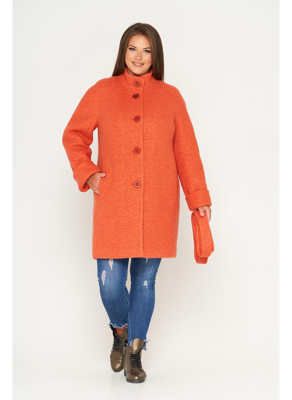 Женское Зимнее Пальто Шарлотта Букле Оранжевый купить в Украине: фото, цена, характеристики, отзывы - фото 1