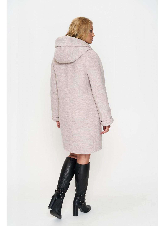 Женское Демисезонное Пальто Марго с капюшоном Шерсть Бежевый 800 купить в Украине: фото, цена, характеристики, отзывы - фото 2