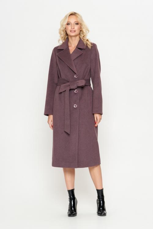 Женское Демисезонное Пальто Мария Шерсть Фиолетовый