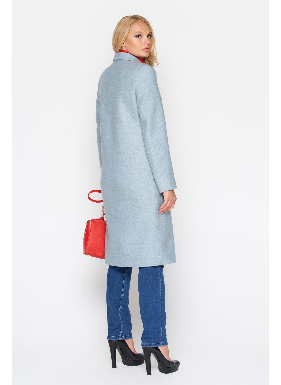 Женское Демисезонное Пальто Фиджи Шерсть Бледно - голубой Длинное купить в Украине: фото, цена, характеристики, отзывы - фото 2