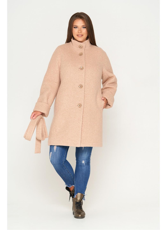 Пальто Шарлотта, зима, букле, бежевый