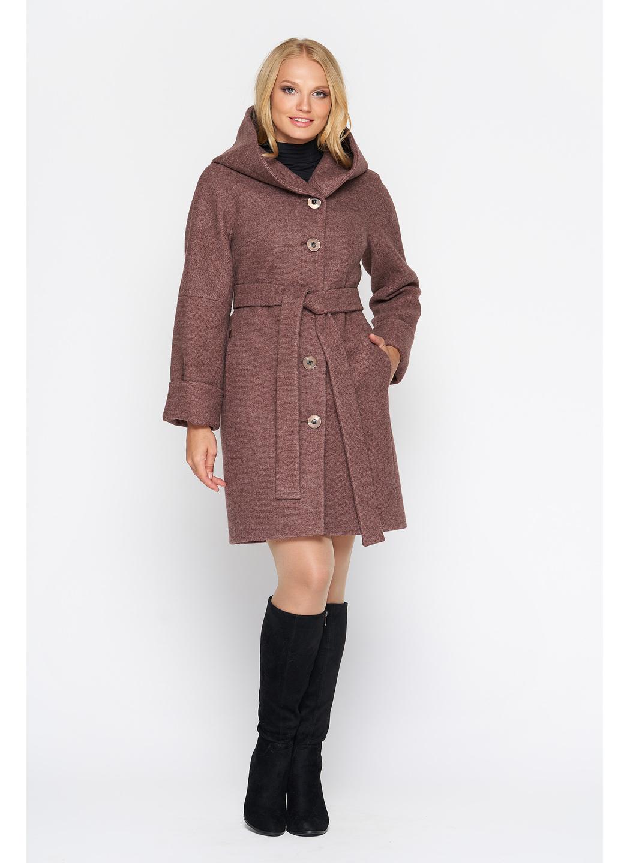 Женское Зимнее Пальто Марго с капюшоном Шерсть Ягода купить в Украине: фото, цена, характеристики, отзывы - фото 1