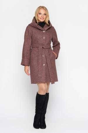Пальто Марго, зима, шерсть, ягода