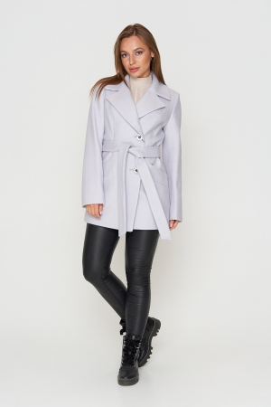 Пальто Алина, деми, ш/е, серый