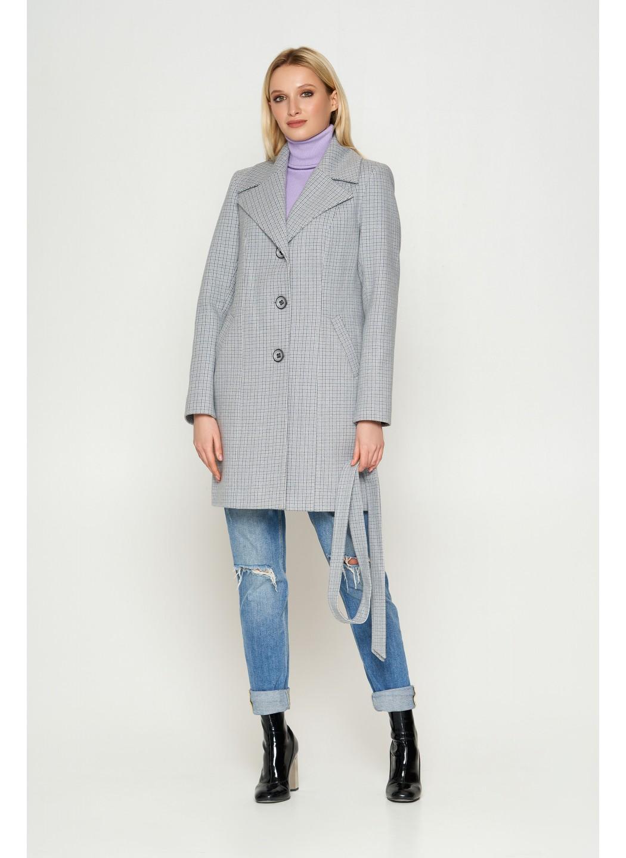 Пальто Влада, деми, клетка, серый купить в Украине: фото, цена, характеристики, отзывы - фото 1