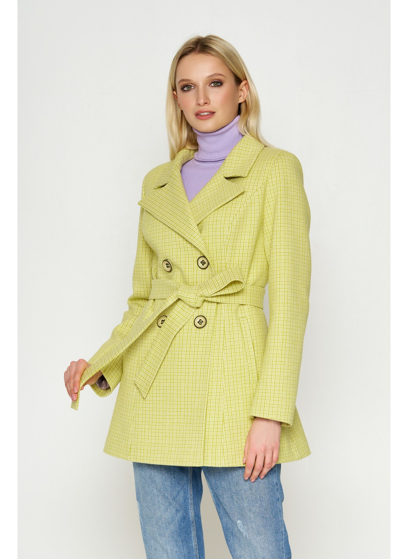 Женское Демисезонное Пальто Марта Кашемир Лимонный 8817 купить в Украине: фото, цена, характеристики, отзывы
