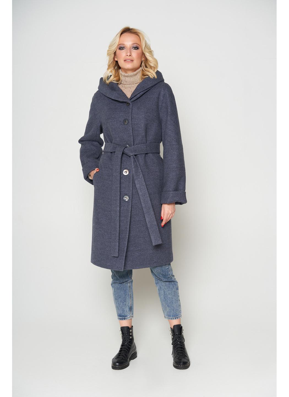 Женское Зимнее Пальто Лора с капюшоном Шерсть Темно-серый купить в Украине: фото, цена, характеристики, отзывы - фото 1