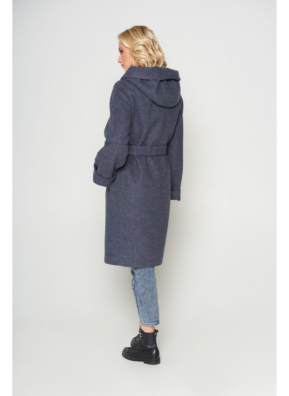 Женское Зимнее Пальто Лора с капюшоном Шерсть Темно-серый купить в Украине: фото, цена, характеристики, отзывы - фото 2